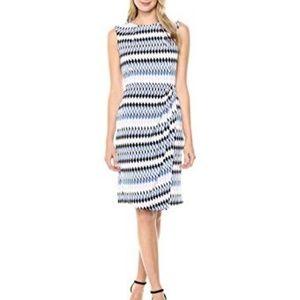 Lark & Ro Women's Sleeveless Wrap Skirt Dress